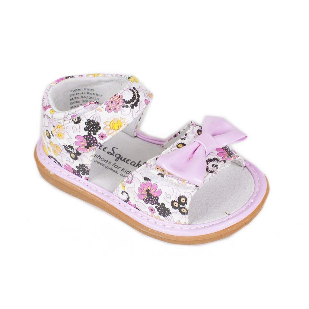 Wee Squeak Posey Pink Sandal Toddler Squeaky Shoe