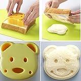 Huayang Party Haus Frühstück DIY Karikatur Bären Form Plätzchen-Ausstechform Sandwich Maker Toast Brot Form Werkzeug