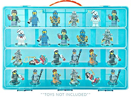 Life Made Better Carrying Case, Compatible with Lego Ninjago Mini Ninja Figurines, Blue Figures Holder