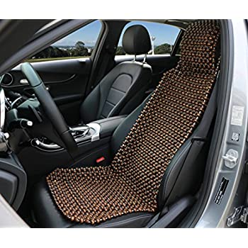 EXCEL LIFE Natural Wood Beaded Seat Cover Massaging Cool Cushion For Car Truck