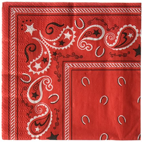 Cowboy Bandana Beverage Napkins : package of 16 from Beistle