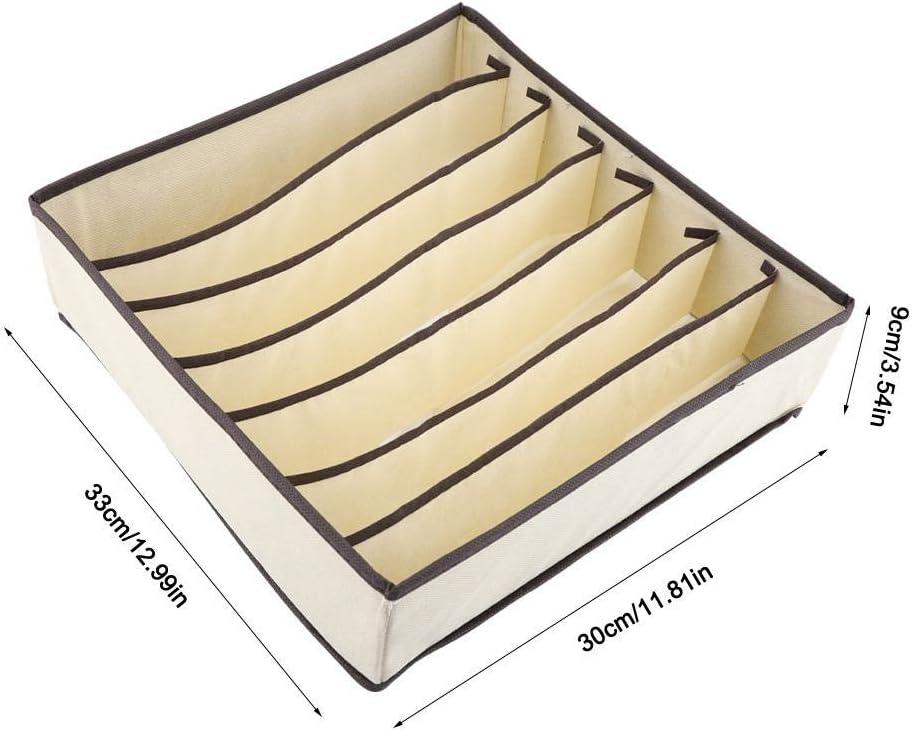 Complete Set FTVOGUE Organizador Plegable de Cajones Caja de Almacenamiento de Divisor Duradero Caja Contenedor para Sujetador Ropa Interior Calcet/ín