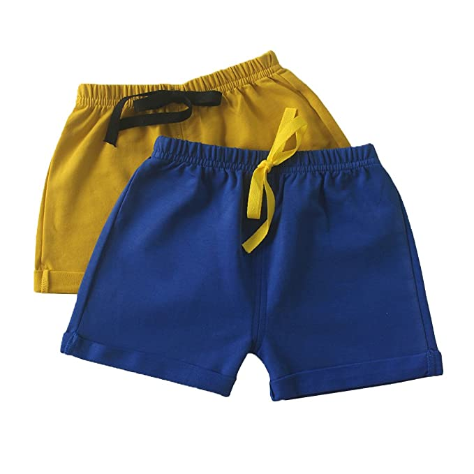 79a74d4524 C&X Toddler Boys and Girls Cotton Shorts,2 Pack Shorts for Kids 12M - 5  Years