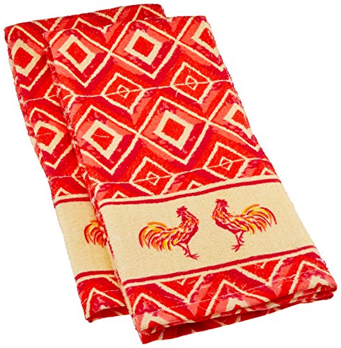 Kitchen Printed Absorbent Diamond Rooster