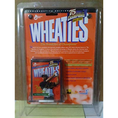 Mini Wheaties Box - 75 Years of Champions 24K Signature - Tiger Woods: Toys & Games