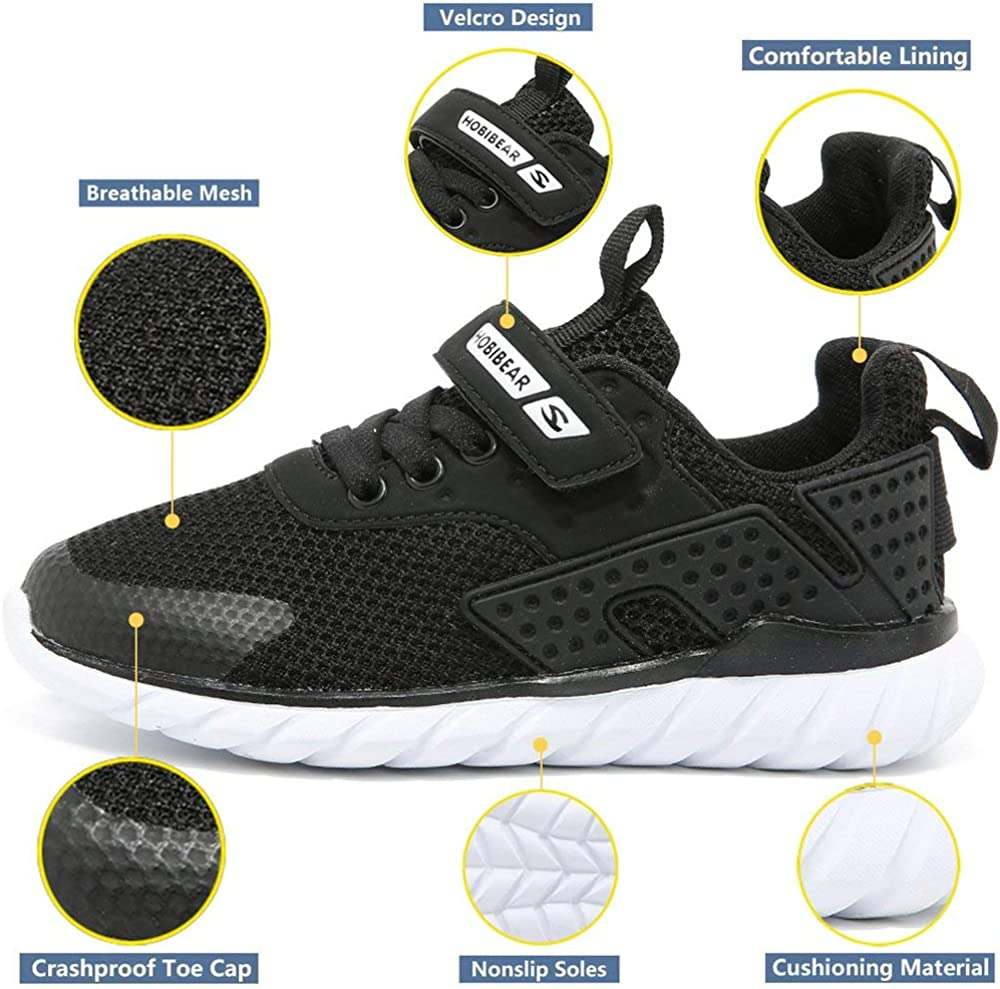 HOBIBEAR Kids Running Shoes Outdoor Sneakers Athletic Shoes Fashion Shoes Toddler Boys Girls