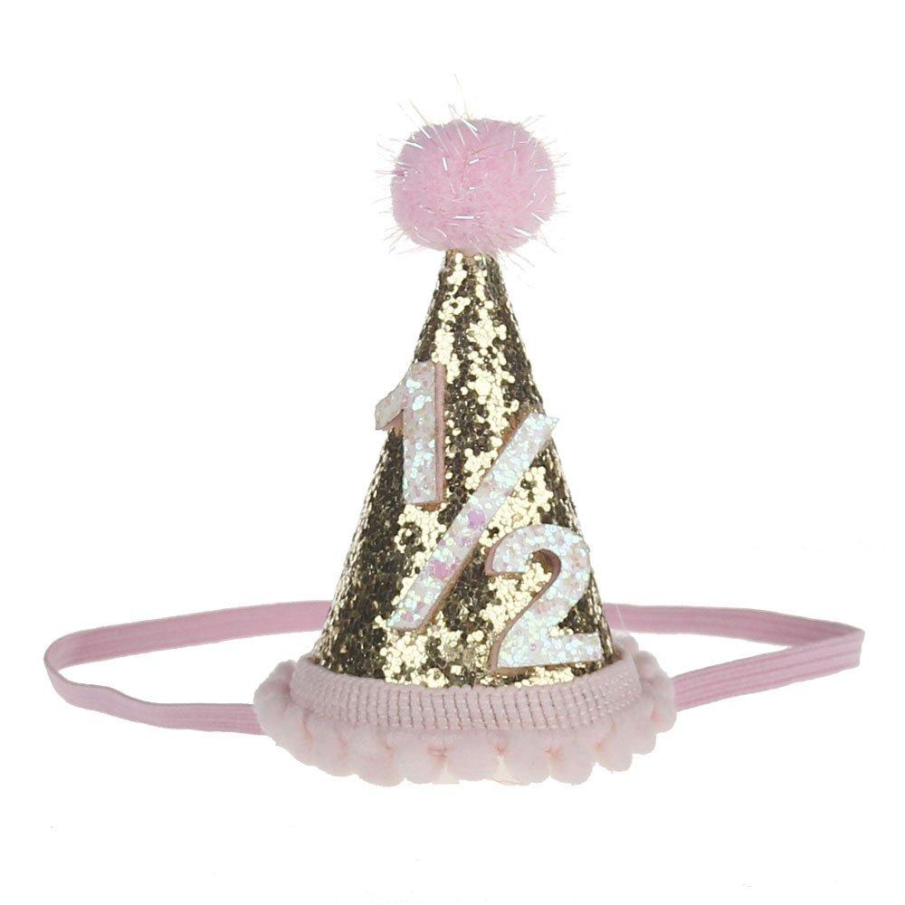 Amazon 1 2 Birthday Cone Hat Headband