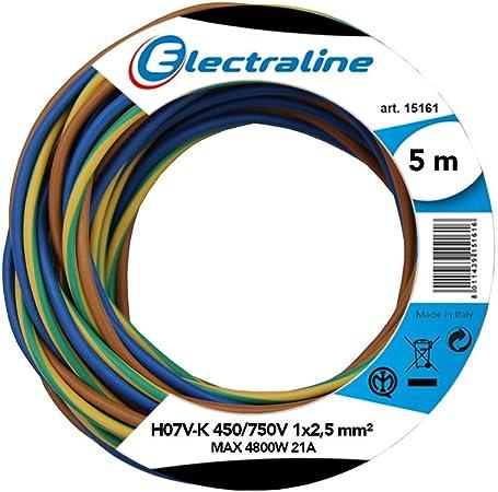 /PVC/ /Couleur: Vert Jaune 10/m//15/m//20/m//25/m//30/m//35/M//40/m//45/m//50/M//55/M// /h07/V H07/V-K 1,5/mm/²/ C/âble de simple fil flexible/
