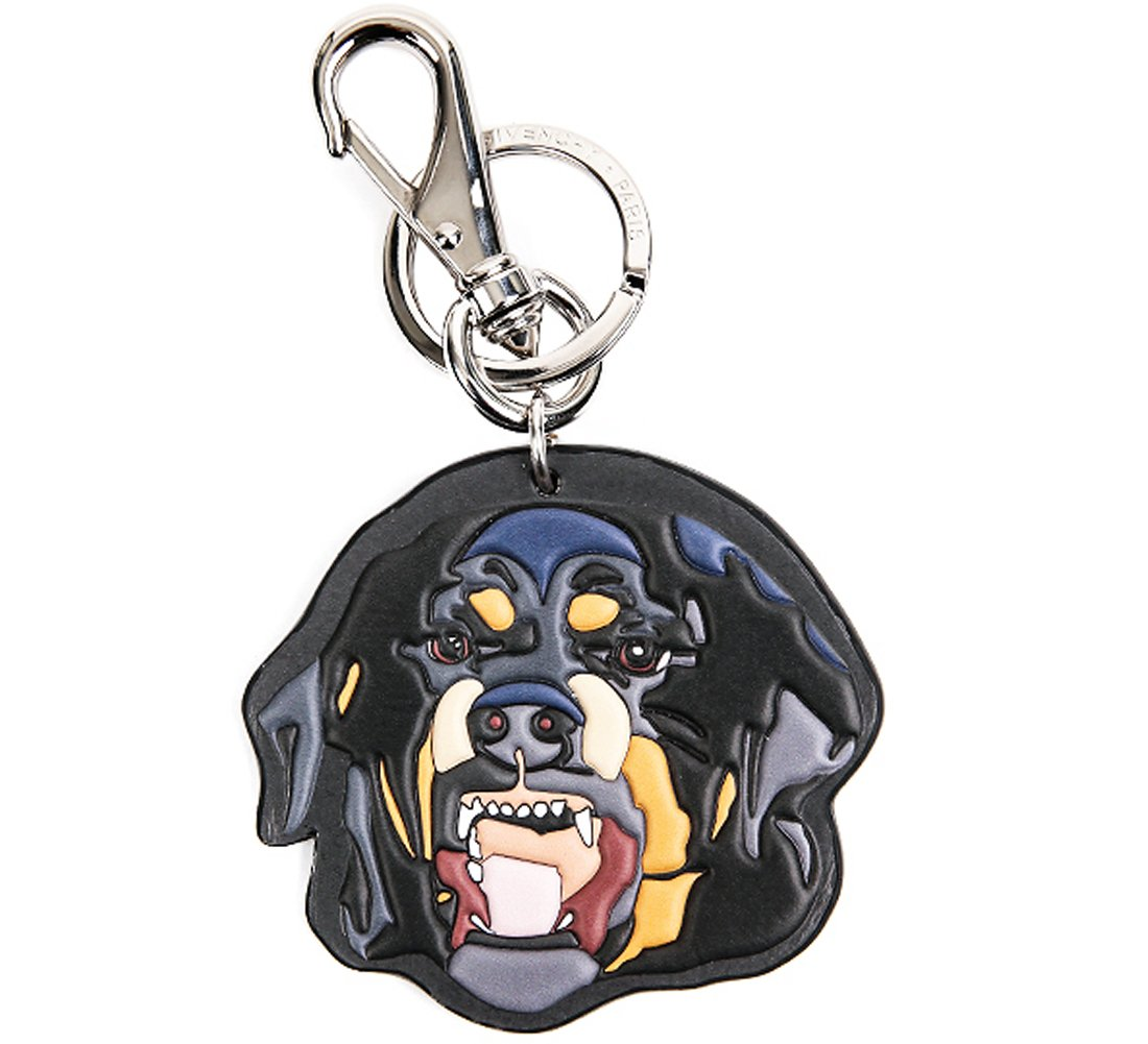 Wiberlux Givenchy Men's Rottweiler Key Ring One Size Black
