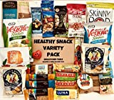 Healthy Snacks Care Package Fitness Variety Pack Assortment (30 Count) Healthier Choices Snack Pack College, Office, Military, Diet Non-GMO Gluten Free