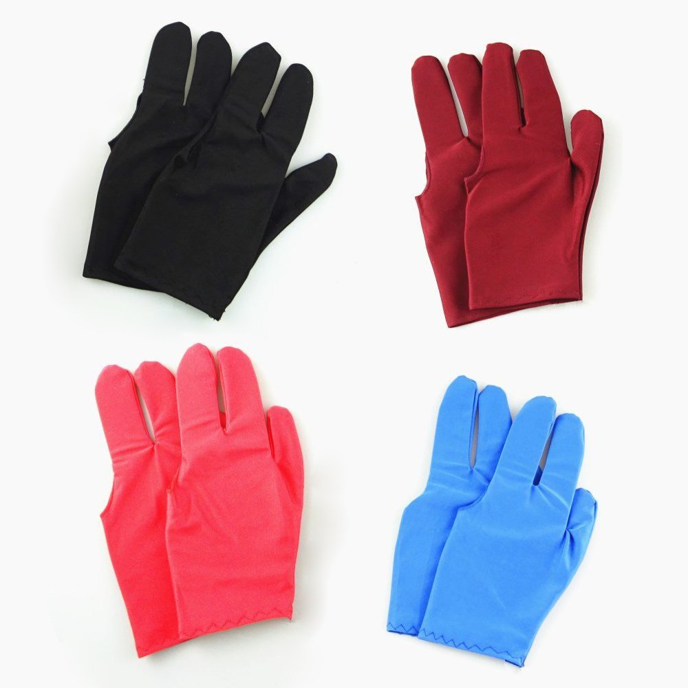 Guajave 1 Pcs 3 Fingers Snooker Billiard Glove Breathable Right Left Hand Cue Sports