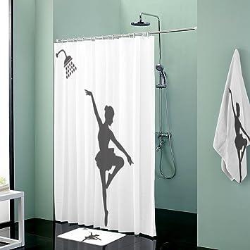 Juego de accesorios de baño con ganchos de poliéster divertidos para la ducha, decoración de la familia y toalla de baño decorativa: Amazon.es: Hogar