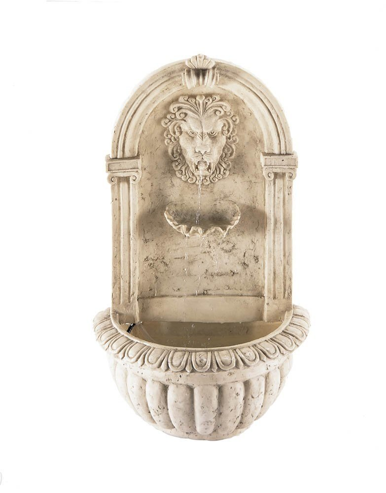 Cascading Fountains 10032428 Pond Fountain Courtyard Designers Large Lion Heads Wall Outdoor Garden