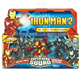 Iron Man 2 Super Hero Squad Mini Figure 3Pack HiTech Showdown Mark VI, War Machine Drone