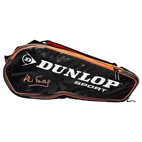 Nuevo Dunlop Performance 8 Racket Firma Ali Farag Bolsa Negro ...