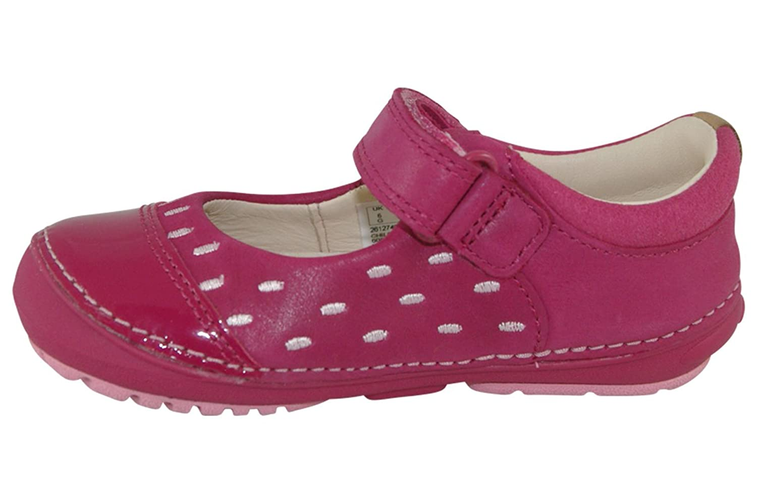Clarks Softly Lou First Girls Casual Pumps 5 E Pink s015eZ1N9