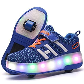 online store f4f4a 726b4 Scarpe con Ruote Singole Scarpe da Skate Roller LED per ...
