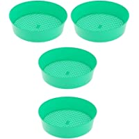 B Blesiya 4 stks Tuinbodem Sifter – Trapping Sifter Metalen Vuil Sifter voor Trapping, Tuin Zeef, Strand Zand Sifter