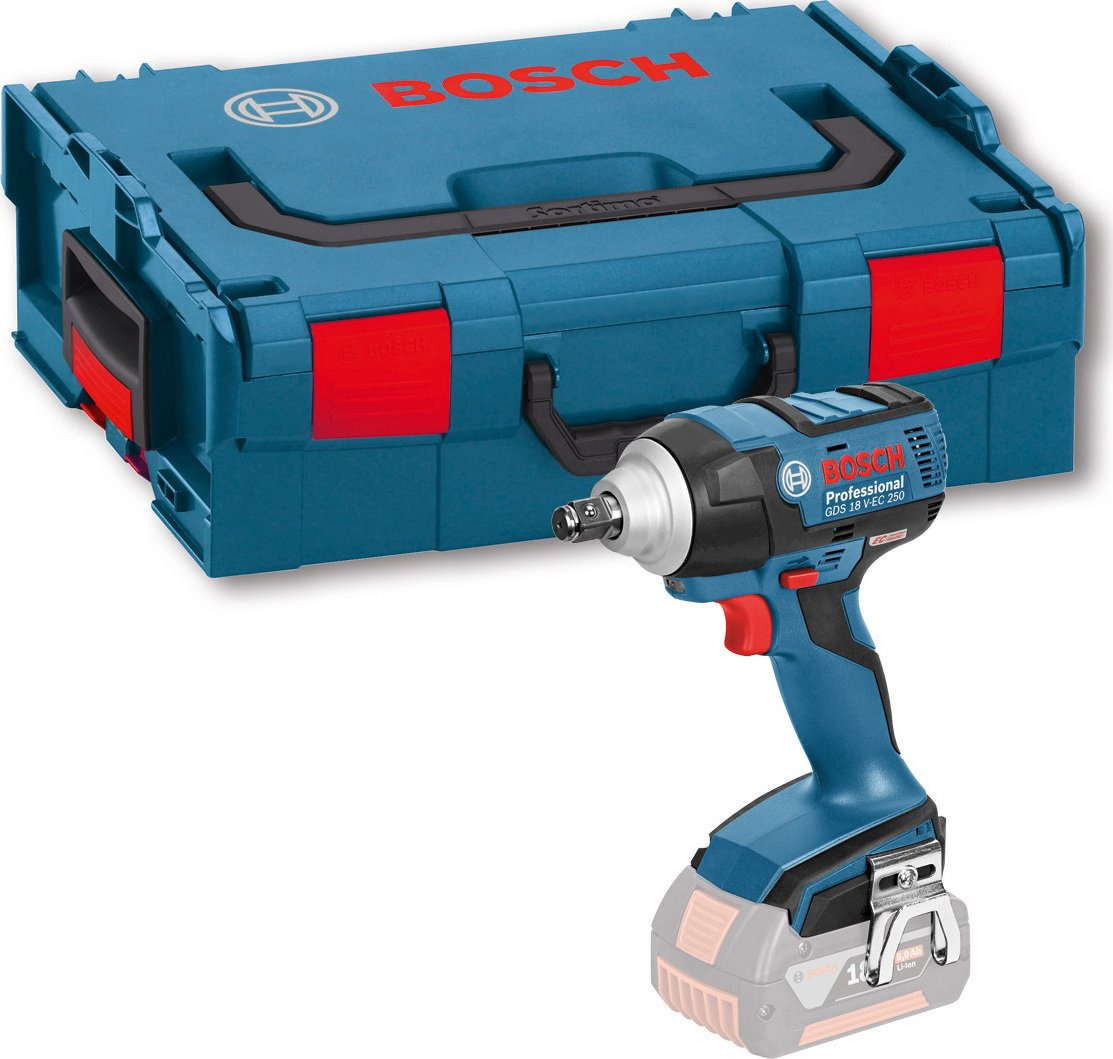 Bosch Professional GDS 18 V-EC 250 Cordless Impact Wrench (Without Battery and Charger) - L-Boxx GDS18VEC250CG