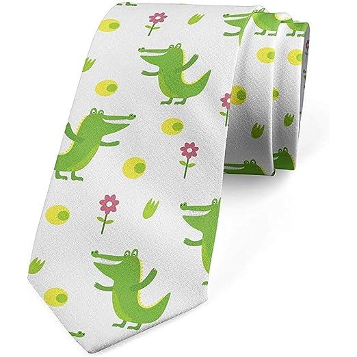 Corbata, alegres flores de animales, verde lima rosa amarillo ...
