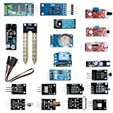 cocopar®Arduino/raspberry pi 3 Model B raspberry pi 2 Model B 用20 in 1セット収納ケース付き(温度センサー/ホール効果センサー/赤外線トラッキングセンサー/タッチセンサー/マイク・サウンドセンサー/デジタル温度&湿度センサー/3色フルカラー SMD LEDモジュール/赤外線リモコン受信モジュール/赤外線送信モジュール/Bluetooth モジュールリレー モジュール/レーザーセンサー/遮光センサー/水銀チルトセンサー/リードスイッチ/火炎検知センサー/赤外線障害物検知センサー/土壌湿度検出モジュール/光センサー/可燃ガス&煙センサー)