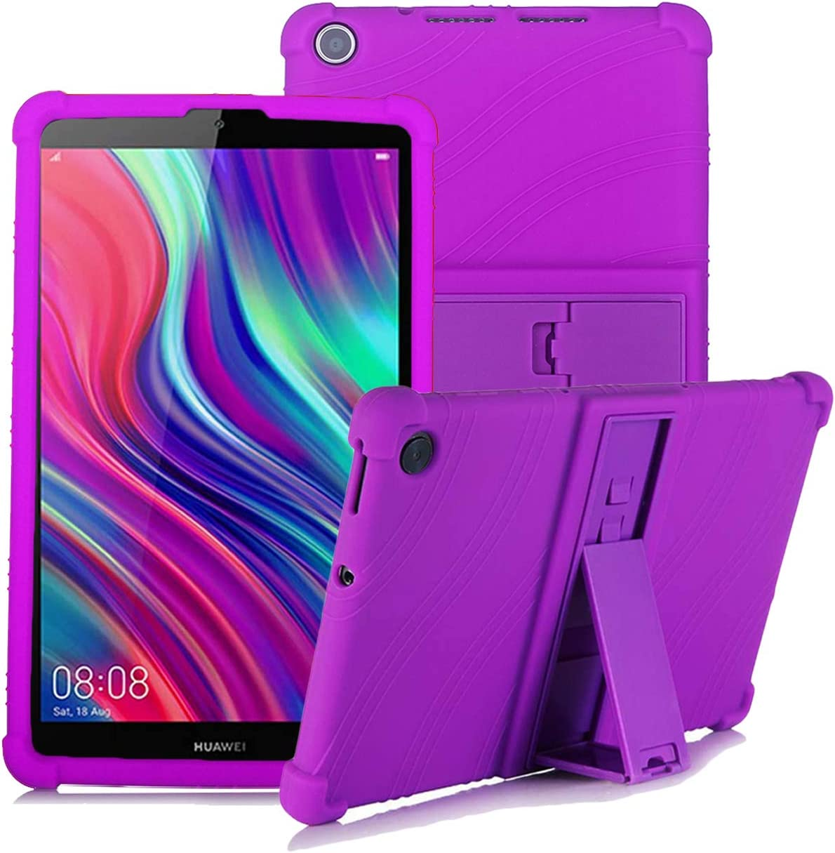 Light Weight Kids Friendly Soft Shock Proof Protective Cover for Huawei MediaPad M5 Lite 8 inch YGoal Silicone Case for Huawei M5 Lite 8 Rose