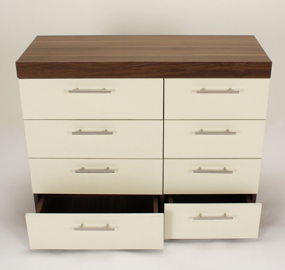 of drawers wooden commode dresser cabinet furniture tallboy white