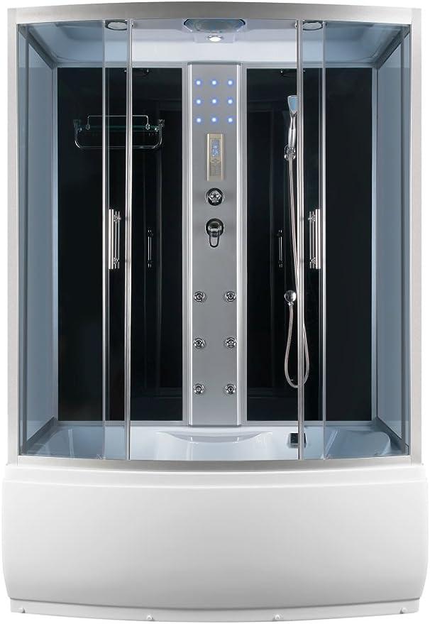 Templo de dibujo de dragón y mampara de ducha de cristal de vapor bañera 152 x 87 cm: Amazon.es: Bricolaje y herramientas