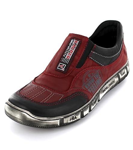 Kacper Herren Slipper 1 4712 rot 140083: : Schuhe