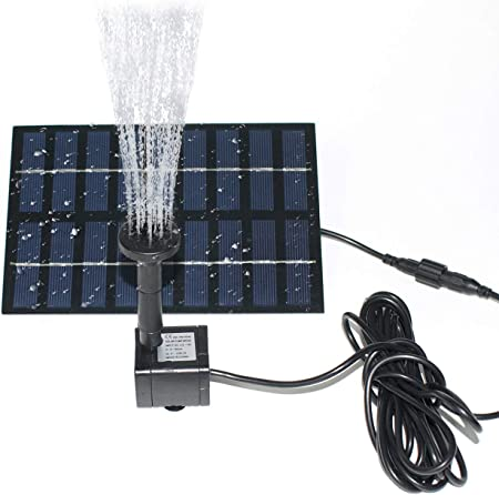 front facing roadtec solar fountain pump kit