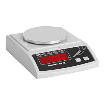 Steinberg Systems Balanza de Precisión Bascula Digital SBS-LW-3000N (3000 g / 0,1 g, Pantalla LED, Batería integrada 8 h): Amazon.es: Hogar