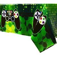 WERNNSAI Mantel Tema de Videojuegos - 1 PCS 110 x 180 CM Mantel Desechable de Plástico Impreso, Artículos de Fiesta para…