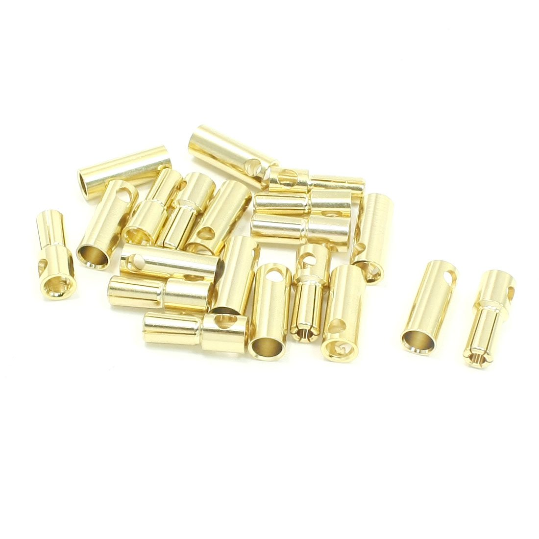 uxcell 10 Pairs Gold Tone Metal 5.5mm Dia Banana Cone Connectors