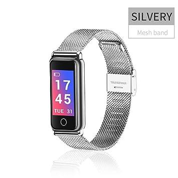 Feiledi® Pulsera inteligente de actividad fitness resistente al agua, reloj inteligente con monitor de