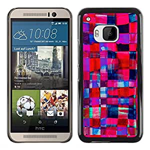 DEMAND-GO Smartphone Rígido Protección única Imagen Carcasa Funda Tapa Skin Cover Case Para HTC One M9 - purple blue feminine girlfriend
