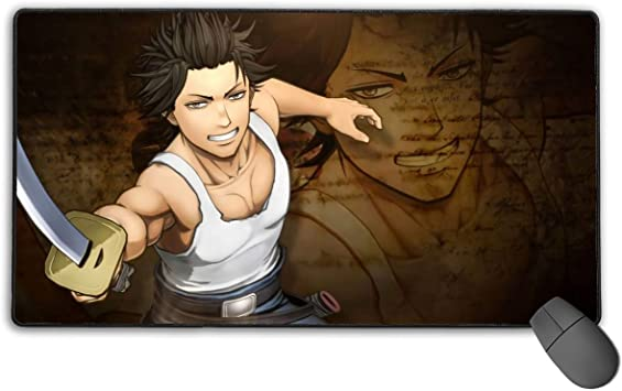 Amazon Com Thick Large Gaming Mouse Pad With Stitched Edges High Performance Laptop Mac Desk Pad Optimized For Fast Control 15 7 X 29 5 In Black Clover Young Yami Sukehiro Fan Art Office Products