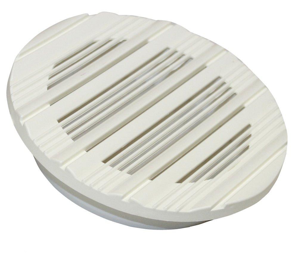 Aerzetix: Grille d'aé ration ronde en plastique. Diamè tre: 143mm C1042