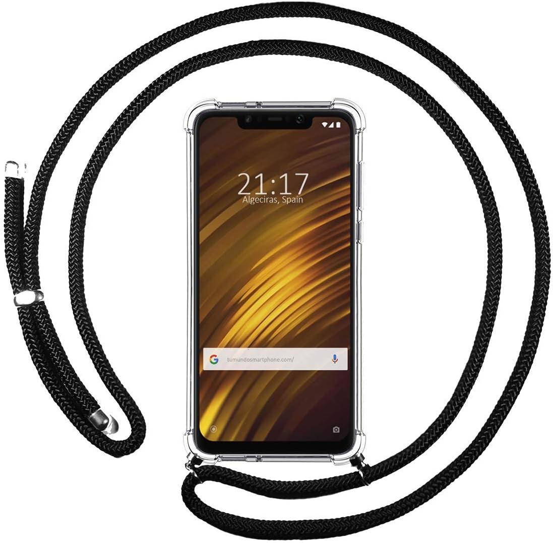 Funda Colgante Transparente para Xiaomi Pocophone F1 con Cordon Verde/Dorado: Amazon.es: Electrónica