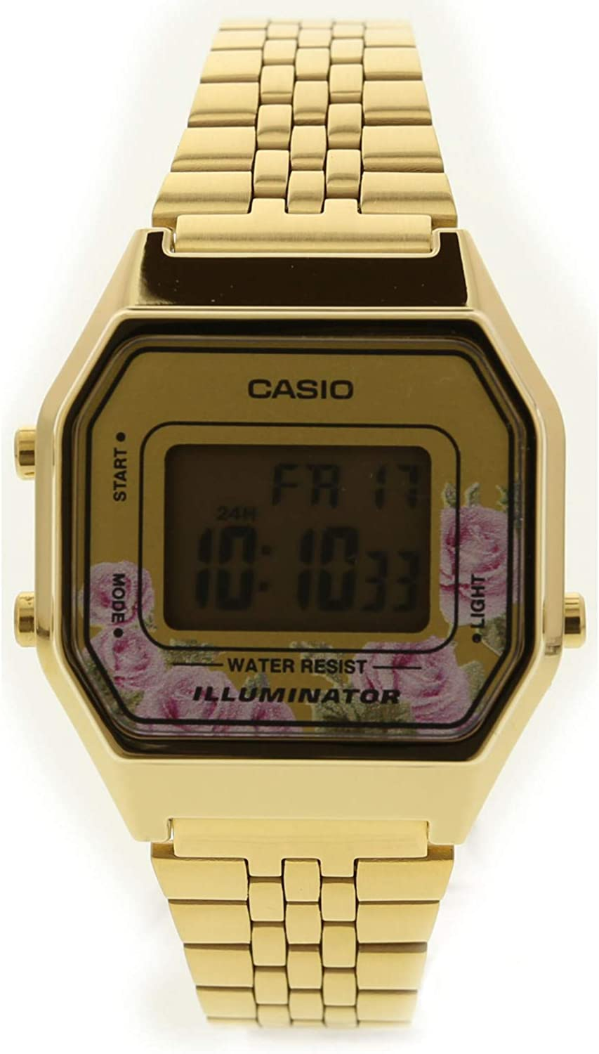 Casio LA680WGA-4C Women s Vintage Gold Tone Alarm Digital Watch