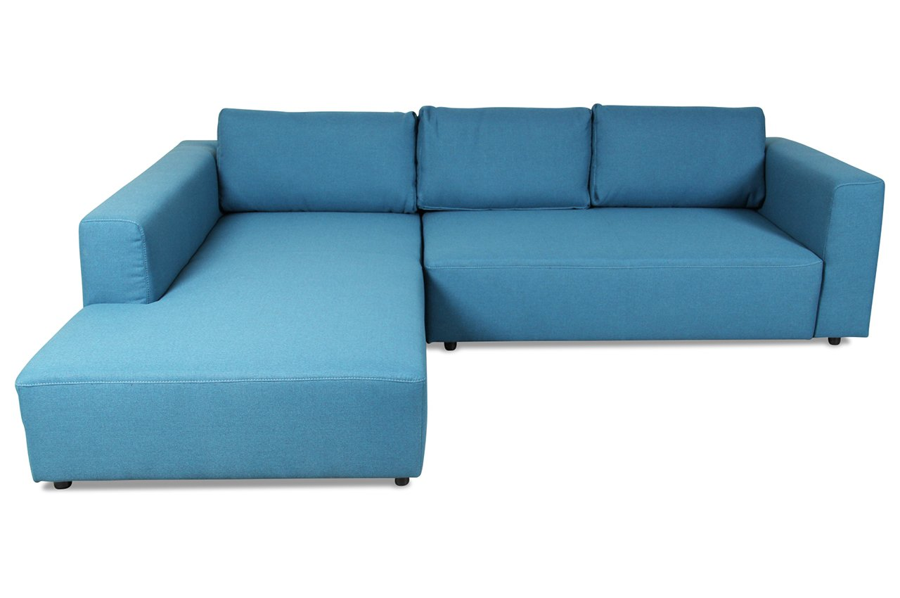 Sofa Tom Tailor Polsterecke Heaven M - Webstoff Blau