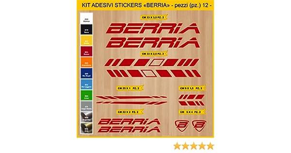 Kit Pegatinas Stickers Bicicleta BERRIA -12 Piezas- Bike Cycle Cod ...