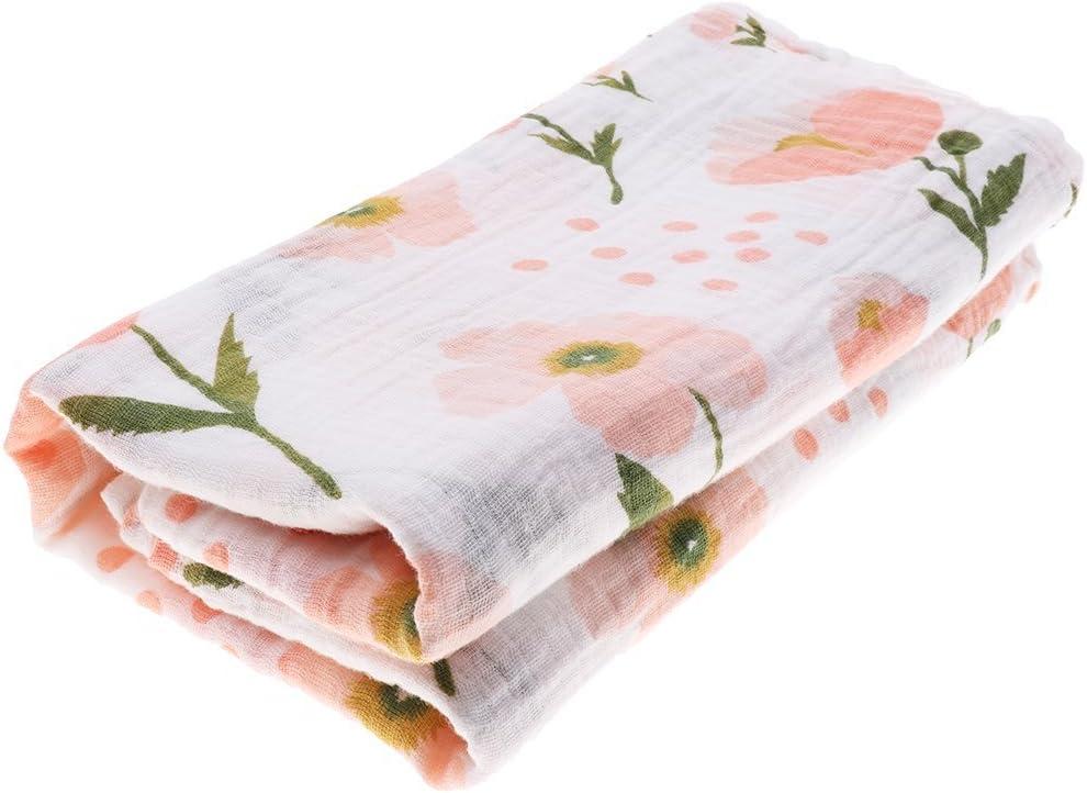 Couverture de b/éb/é en mousseline citron Grande couverture pour b/éb/é couverture en coton bio pour b/éb/é Couverture parfaite pour un cadeau de naissance 120x120cm