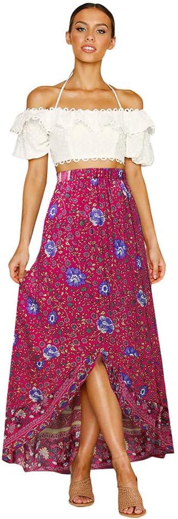 Falda de Mujer Yesmile de Gasa con Estampado de Flores, Falda ...