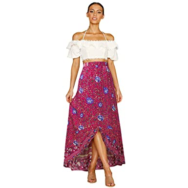Poachers Falda Larga Mujer Elegante Faldas Mujer largas ...