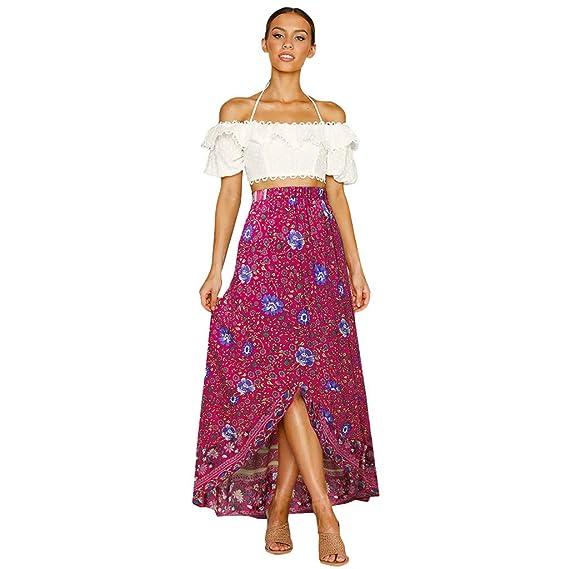 Sylar Faldas Largas Mujer Boho Falda para Mujer Faldas De Tul ...