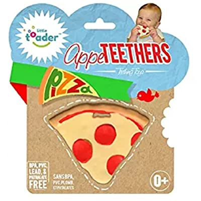 Little Toader Teething Toys - Soft Silicone Food Shaped BPA Free Teethers (Pizza) : Baby
