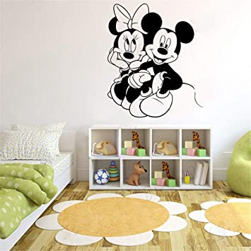 pegatina de pared frases Mickey Mouse Wall Sticker Decal personaje ...