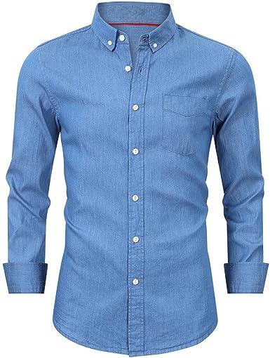 Camisas de hombre de negocios de manga larga camisa de ...