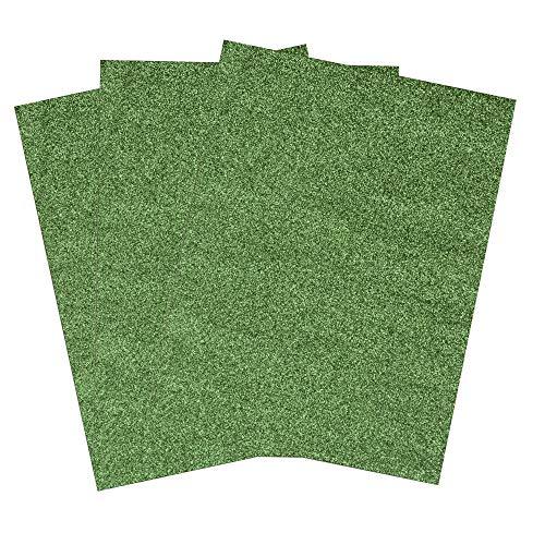SIMPLY ELEGANT Eva Foam Glitter Sheets - Green - 36 Count