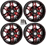 STI HD7 UTV Wheels/Rims Red/Black 14'' Polaris RZR 1000 XP/Ranger XP 900/1000